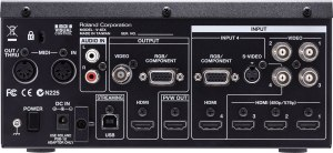 Roland V4EX rear inputs and outputs